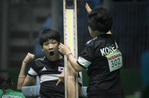 Asia Para Games I Boccia Player Han Soo Kim cheering after seeing the result I Parasports World