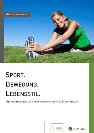 Studie Sport. Bewegung. Lebensstil. der Beratungsagentur SPIN Sport Innovation über gesundheitsbezogene Verhaltensweisen von Studierenden.
