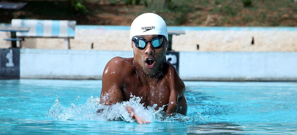 Indian Paralympic swimmer Sharath Gayakwad. Photo credit: Sharath Gayakwad.