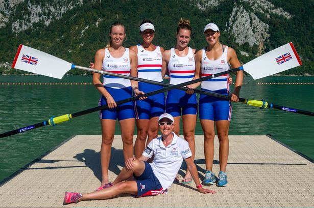 Rebecca Chin (Far right) after winning Silver at the Rowing World Championships in France in 2004 as part of the Women's four I Parasports World article