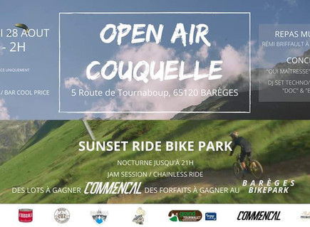 Sunset Ride à Barèges suivi de l'Open Air Couquelle le 28 Août