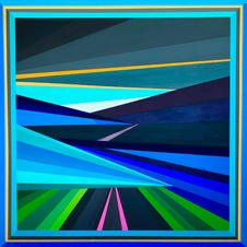 """SOLD! - route 22 - 24""""x24"""""""