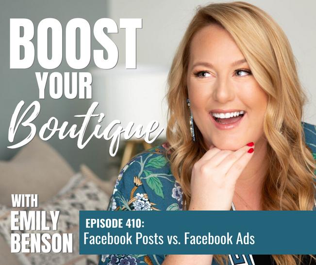 410: Facebook Posts vs. Facebook Ads