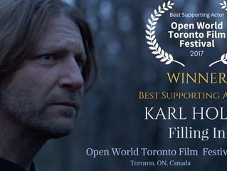 Karl Holtz Wins 'Best Supporting Actor' at Open World Toronto Film Festival!