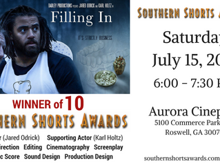 """Filling In' To Be Screened at Southern Shorts Awards!"
