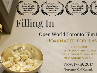 Four Nominations for 'Filling In' at the Open World Toronto Film Festival