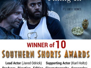 10 Wins for 'Filling In' at Southern Shorts Awards!