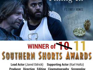 "Composer, Jim Casella, earns an 11th win for 'Filling In"" at Southern Shorts Awards!"