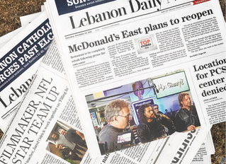 'Filling In' Featured on Front Cover of Lebanon Daily News