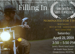 Three Noms for 'Filling In' at Hang Onto Your Shorts Film Festival