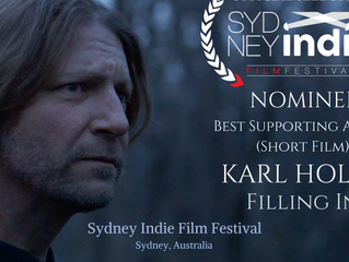Sydney Indie Film Fest Honors Karl Holtz with Best Supporting Actor Nomination!