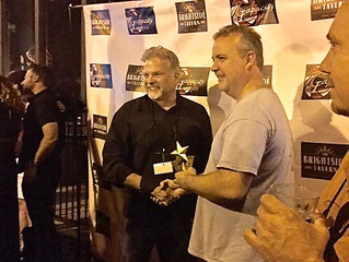 Hawkins Wins Best Director - Comedy at Brightside Tavern Short Film Fest