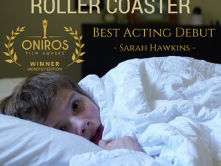 Sarah Hawkins Wins Best Acting Debut at Oniros Film Awards for 'Roller Coaster'