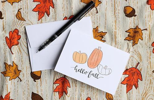 Hello Fall | Notecard Set