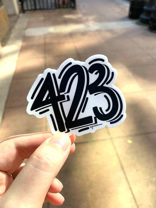 Area Code 423 | Sticker