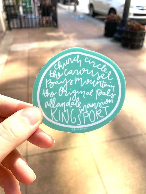 Kingsport Places   Sticker