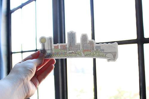Knoxville Skyline | Bumper Sticker