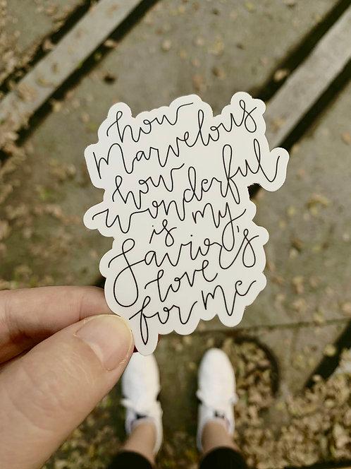 How Marvelous | Sticker