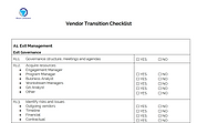 Vendor Transition Checklist