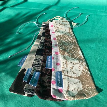 10 porta canudos de tecido