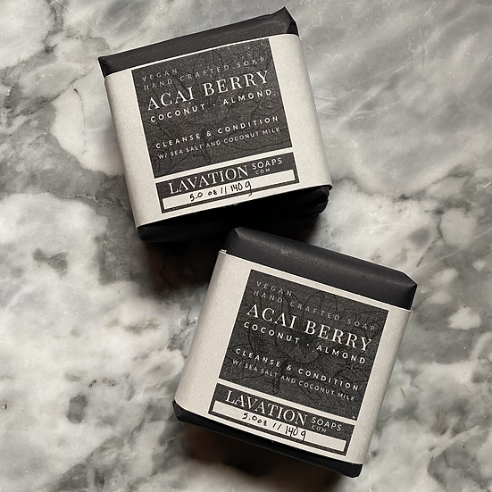 Salt Soap - Açaí Berry / Coconut / Almond