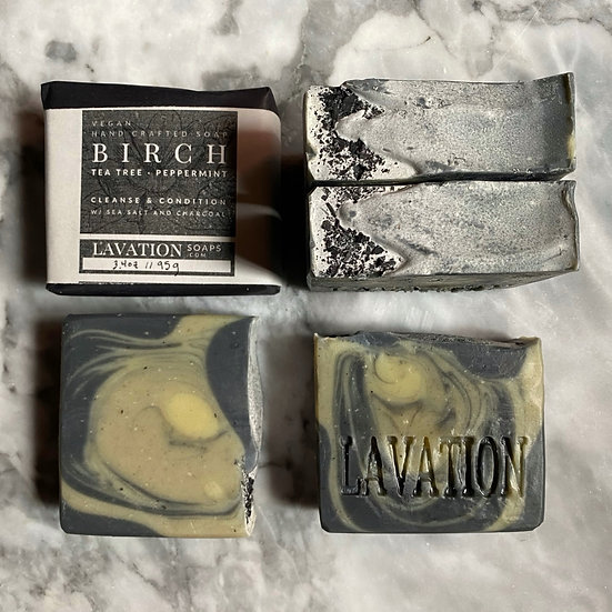 Brine & Charcoal Soap- Birch / Tea Tree / Peppermint