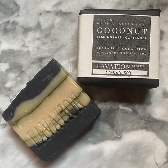 Coconut Milk & Aloe Soap- Coconut / Lemongrass / Coriander