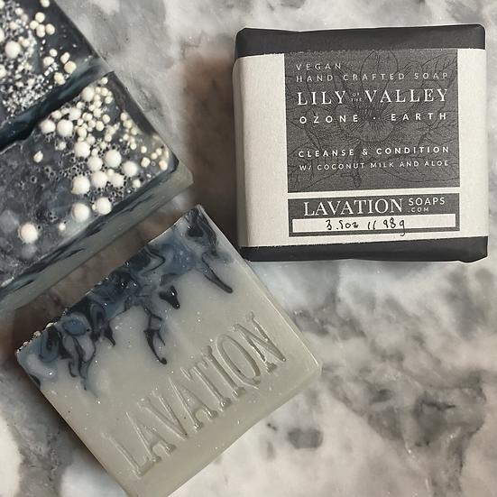 Coconut Milk & Aloe Soap- Lily of the Valley / Ozone / Earth
