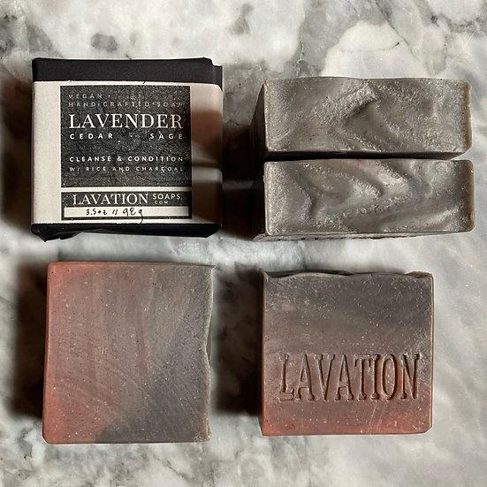 Rice Soap - Lavender / Cedar / Sage