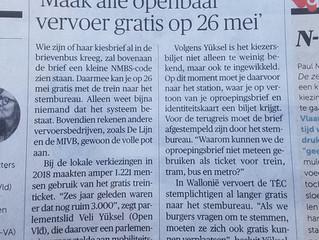 """Veli Yüksel (Open Vld): """"Verkiezingen? Gratis met het openbaar vervoer!"""""""