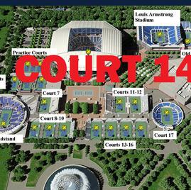 US Open Tennis Court 14