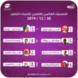 تصنيف عالمي وعربي للاعبات 30 12 2019.jpg