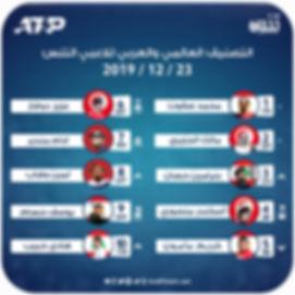 التصنيف العالمي والعربي للاعبي التنس23 1