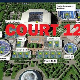 US Open Tennis Court 12