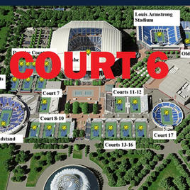 US Open Tennis Court 6