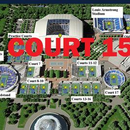US Open Tennis Court 15