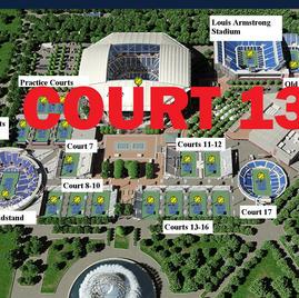 US Open Tennis Court 13