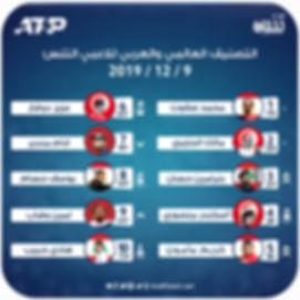 التصنيف العالمي والعربي للاعبي التنس 9 1