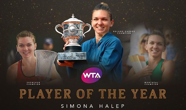 2018 10 Halep wta player of the year.jpg