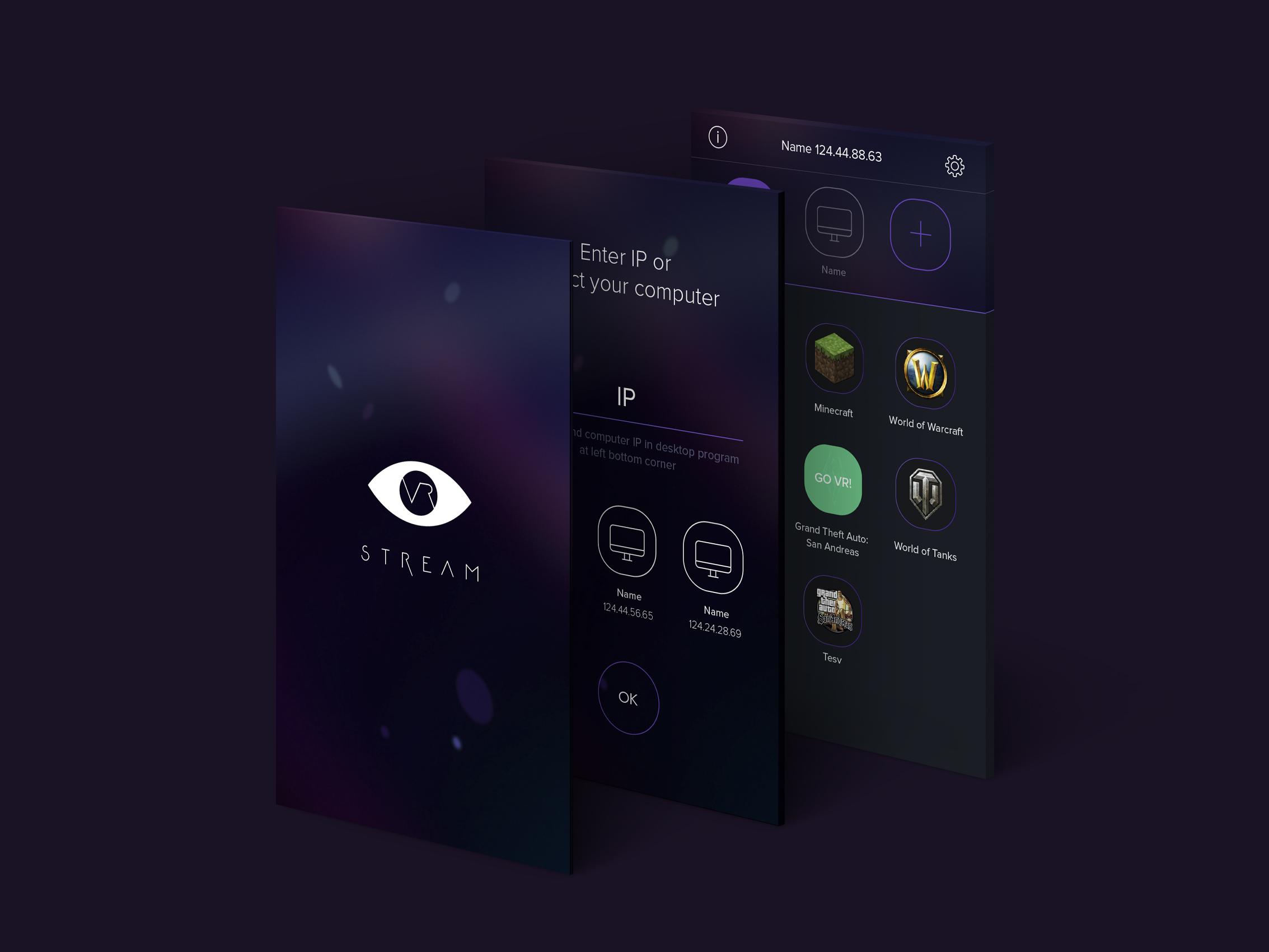 App streaming VR