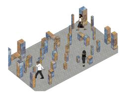 Pedestrian or park area