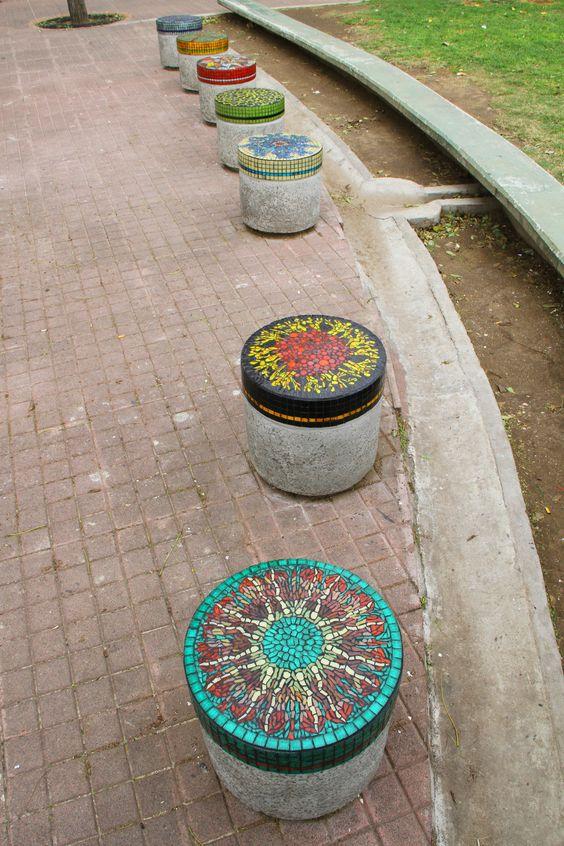 decorative bollard-seats