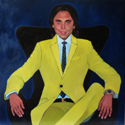 The young man in a yellow suit