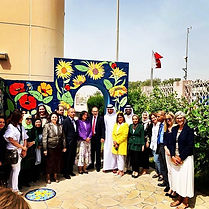 Honored to inaugurate the garden of the