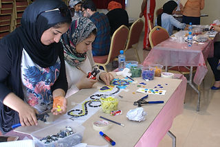 students in Shakhurah workshop