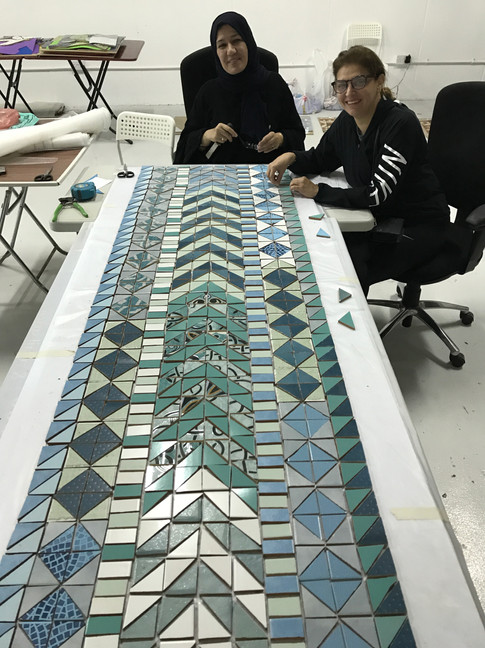 A geometric design for a table top.