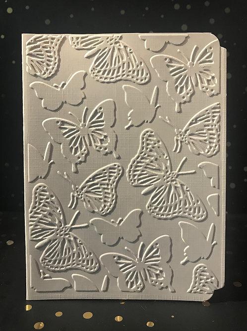 Butterflies - Hand embosses card.