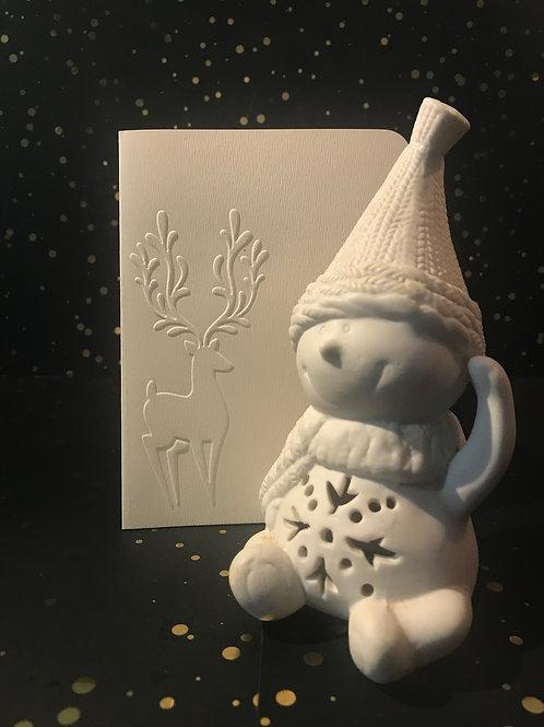 Christmas - Hand embossed card.