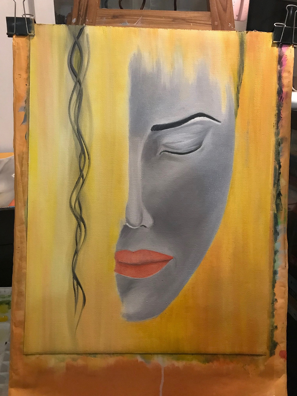 The completed painting called Awake by Leeza A. Harris