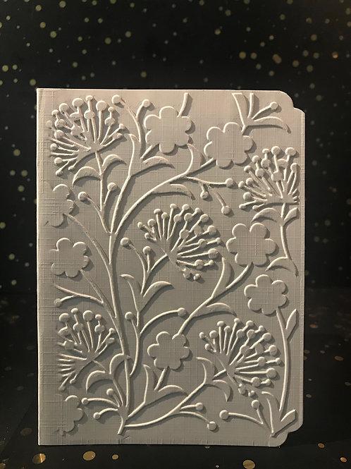 Flowers - Hand embossed card.
